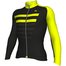 Alé Cycling Piuma LS Jersey Men Black-Fluo Yellow